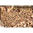 Palivové štípané dřevo dlouhé 25-30 cm - měkké dřevo syrové